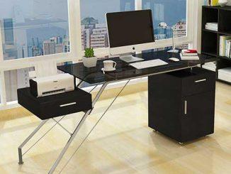 Một số mẫu bàn làm việc mặt kính cường lực cho văn phòng thêm sang