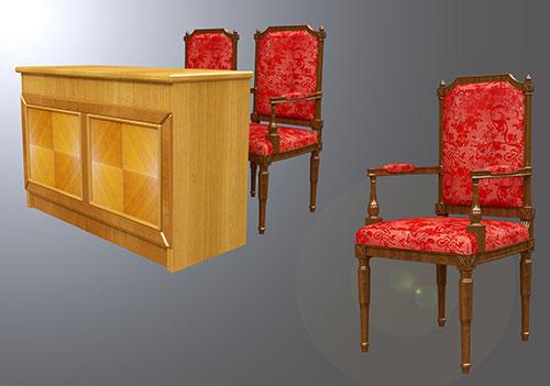 Mẫu bàn ghế gỗ hội trường BGHTTN-DG02