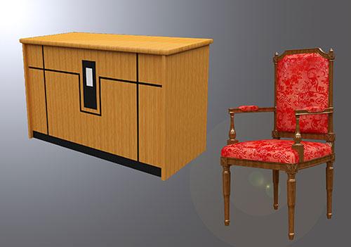 Mẫu bàn ghế gỗ hội trường BGHTTN-DG04
