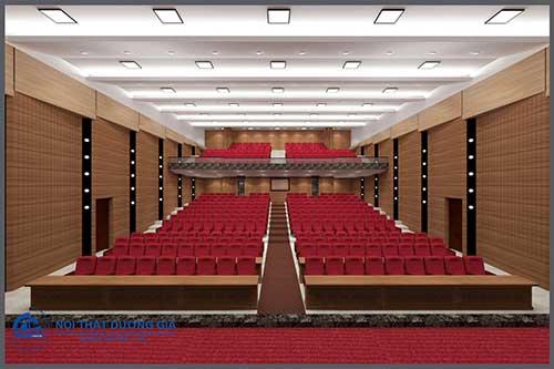 Kích thước khu vực khán giả trong nội thất phòng hội trường