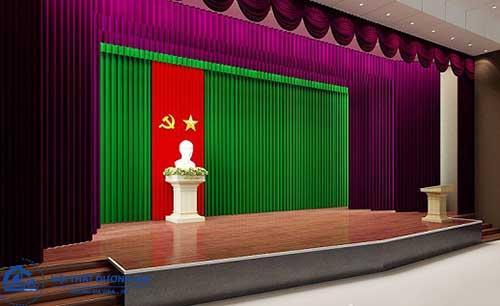 Kích thước sân khấu chuẩn cho khu vực phía sau hội trường