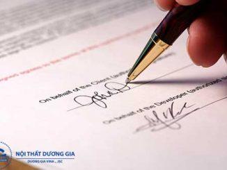 Tầm quan trọng của mẫu hợp đồng thi công nội thất