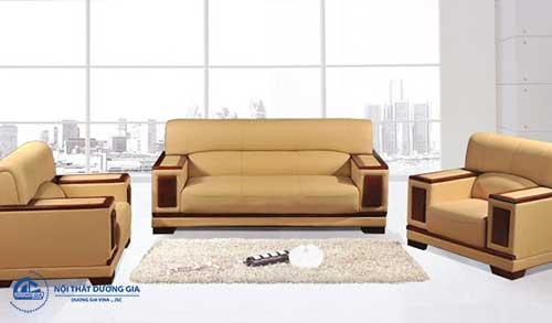 Cách bố trí nội thất phòng tổng Giám đốc với khu tiếp khách hiện đại - Sofa SF21