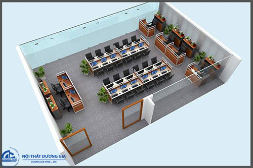 Cách sắp xếp bàn ghế trong phòng làm việc theo thứ bậc