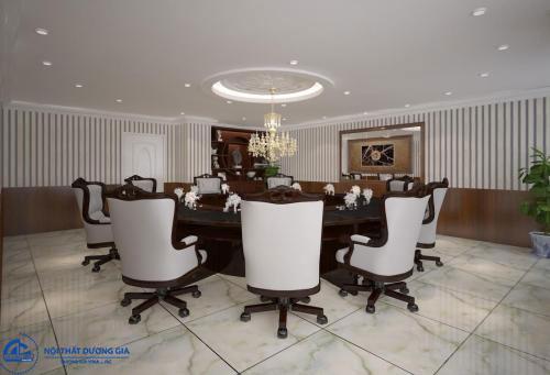 Cách sắp xếp nội thất phòng hội nghị kiểu bàn tròn