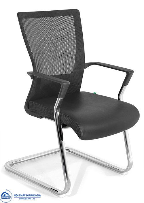 Mẫu ghế ngồi phòng họp có đệm tựa lưới thông thoáng GQ17-M