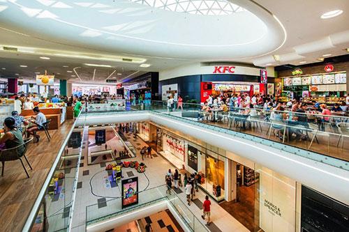 Các dịch vụ, mặt hàng tại trung tâm thương mại