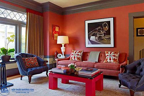 Màu sắc trong phong cách nội thất retro