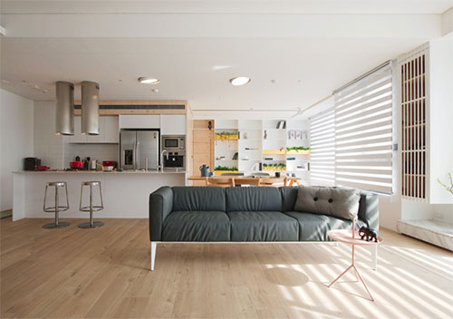 Thiết kế nội thất nhà phố hiện đại đơn giản