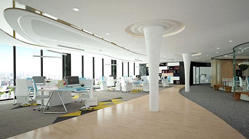 Dịch vụ thiết kế văn phòng làm việc trọn gói tại Hà Nội