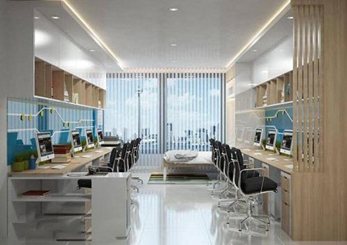 Thiết kế nhà ở kiêm văn phòng theophong cách hiện đại
