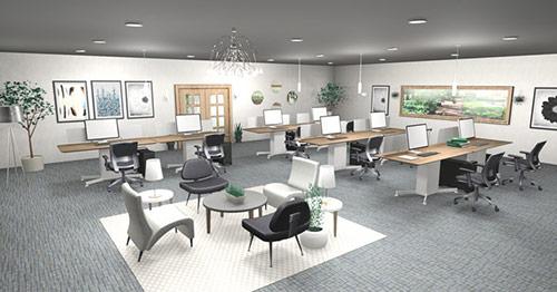 Thiết kế nội thất văn phòng hiện đại giá rẻ