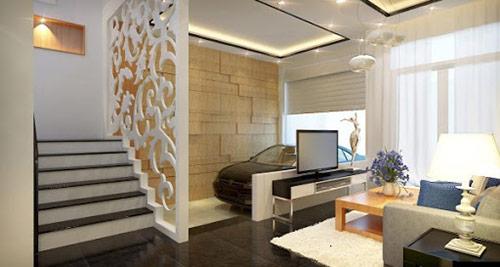 Công ty thiết kế, thi công vách ngăn cầu thang bằng gỗ uy tín