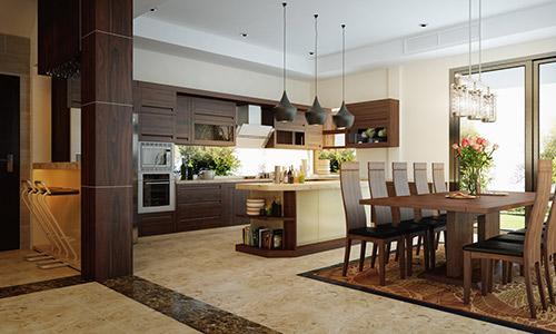 Nội thất phòng ăn bằng gỗ chất lượng đảm bảo