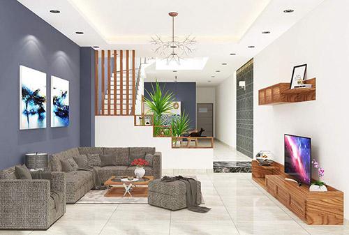 Những mẹo nhỏ khi thiết kế nội thất phòng khách 2 tầng