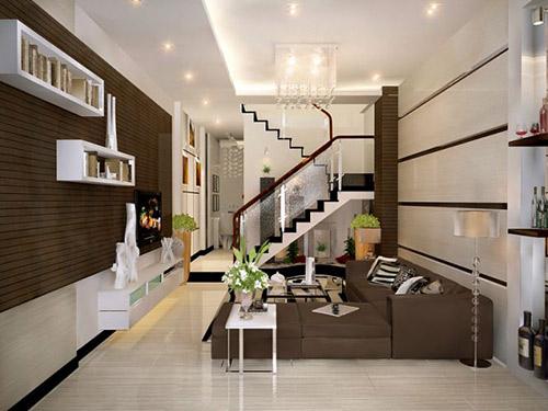 Chọn đồ nội thất phòng khách cho nhà ống cần chú ý tới điều gì?