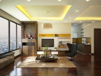 Các mẫu thiết kế nội thất phòng khách có bàn thờ đẹp, hợp phong thủy