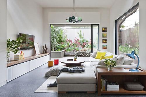 Phòng khách nhà 1 tầng hiện đại
