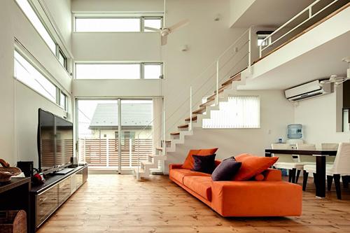 Ý tưởng thiết kế phòng khách có gác lửng