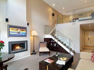 Các mẫu thiết kế nội thất phòng khách có gác lửng độc đáo, ấn tượng